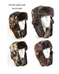 36 Units of Cold Windproof Winter Aviator Collection Trooper Trapper Hunting Hat Aviator Winter - Trapper Hats