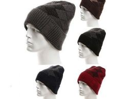 72 Units of Mens Winter Warm Knitting Hats Wool Baggy Slouchy Beanie Hat Skull Cap - Winter Beanie Hats