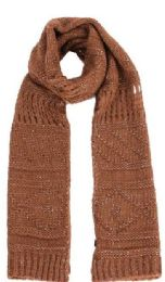 48 Units of Women's Cable Knit Scarf - Womens Fashion Scarves