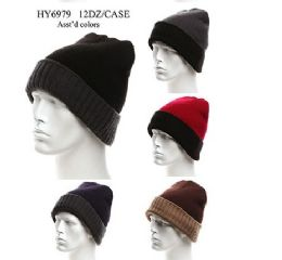 36 Units of Adults Heavy Knit Winter Hat - Winter Hats