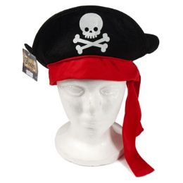 48 Units of Pirate Hat Felt With Pirate - Party Hats & Tiara