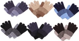 120 Units of Boy's Striped Winter Glove - Kids Winter Gloves
