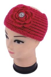 120 Units of Warm Winter Floral Head Band - Ear Warmers
