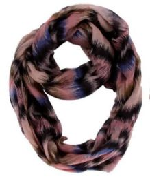 60 Units of Women's Light Weight Infinity Scarf - Womens Fashion Scarves