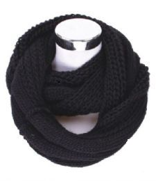 60 Units of Women's Knitted Winter Infinity Scarf - Winter Scarves