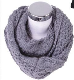 72 Units of Women's Knitted Winter Infinity Scarf - Winter Scarves