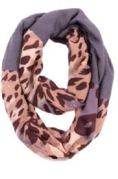 72 Units of Women's Leopard Print Light Weight Infinity Scarf - Womens Fashion Scarves