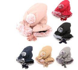 36 Units of Women's Winter Glove Warm Plush Lining Mitten With Faux Fur Cuff - Winter Gloves