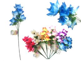 144 Units of 5 head Flower Rose - Artificial Flowers