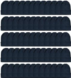 120 Units of Yacht & Smith Black Beanies Bulk Thermal Winter Hat Solid Black - Winter Beanie Hats