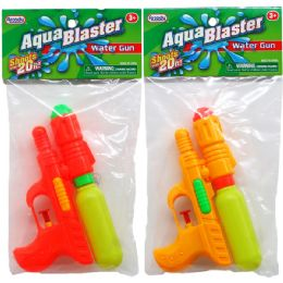 """144 Units of 6.75"""" WATER GUN IN POLY BAG W/HEADER, 3 ASSRT - Water Guns"""