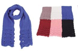 48 Units of Knitted Infinity Scarf [Chevron Knit] - Winter Scarves