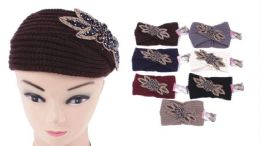 72 Units of Knit Flower Headband - Ear Warmers
