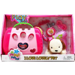 """8 Units of 5"""" Plush Dog With 5"""" Dog Cage & Access In Open Box - Girls Toys"""
