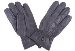 72 Units of Women's Black Leather Gloves - Leather Gloves