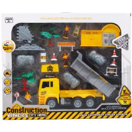"6 Units of 20PC CONSTRUCTION WORLD WITH 10"" F/W TRUCK IN WINDOW BOX - Toy Sets"