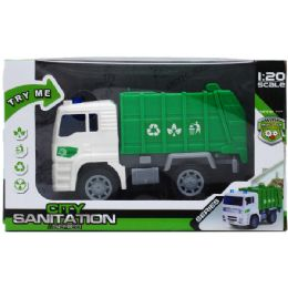"24 Units of 6.25"" SANITATION TRUCK WITH LIGHT & SOUND - Toy Sets"