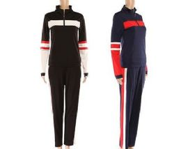 24 Units of Women's Athletic 2 Piece Tracksuit Set - Womens Rompers & Outfit Sets