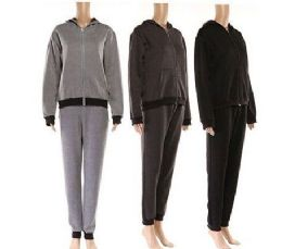 24 Units of Unisex Tracksuit Set With Hooded Zip Up Sweatshirt And Pants - Mens Apparel