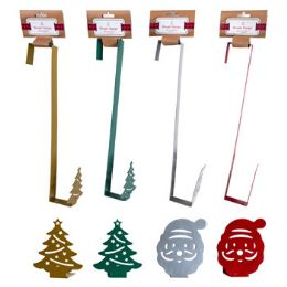 24 Units of Wreath Hanger Santa/tree Shape Decorative Hook - Christmas Decorations