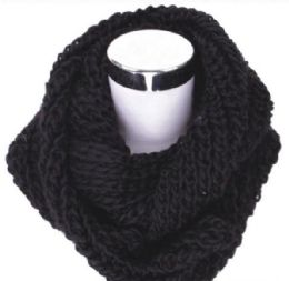 72 Units of Women's Black Infinity Scarf - Womens Fashion Scarves