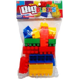 36 Units of JUMBO BLOCKS IN POLY BAG WITH HEADER - Light Up Toys