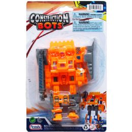 48 Units of Construction Bot On Blister Card - Action Figures & Robots