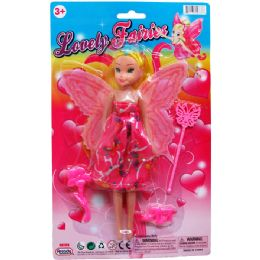 48 Units of FAIRY DOLL WITH ACCESS ON BLISTER CARD - Dolls