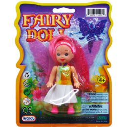 96 Units of FAIRY DOLL ON BLISTER CARD - Dolls