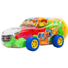 12 Units of ASSORTED COLORED BLOCKS IN CAR - Light Up Toys