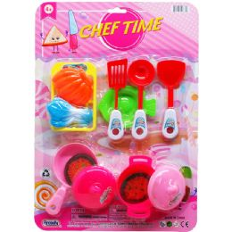 24 Units of KITCHEN SET ON BLISTER CARD - Light Up Toys