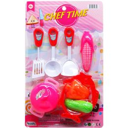 48 Units of CHEF TIME KITCHEN SET ON BLISTER - Light Up Toys