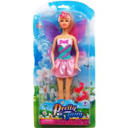 24 Units of Fairy Doll With Accessories On Double Blister Card - Dolls