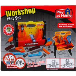 12 Units of PLUS WORKSHOP TOOL PLAY SET IN COLOR BOX - Light Up Toys