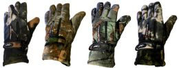 24 Units of Man size Heavy and Thermal -30 Camo Glove - Fleece Gloves
