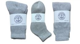 360 Units of Yacht & Smith Kid's Cotton Sock Set Assorted Styles, Crew, Ankle and Tube Gray - Sock Care Sets