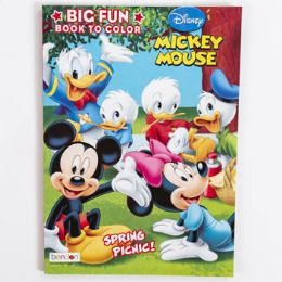 24 Units of Coloring Book Mickey Mouse Picnic In 24pc Display Box - Coloring & Activity Books