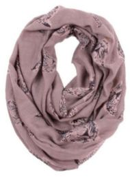 72 Units of Women's Cheetah Print Light Weight Infinity Scarf - Womens Fashion Scarves