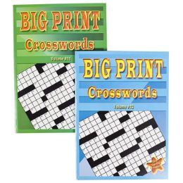 24 Units of Crossword Puzzles Big Print 2 Assorted In Pdq - Crosswords, Dictionaries, Puzzle books