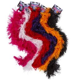 96 Units of 48in Fluffy NO-Shed Boa - Costumes & Accessories