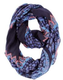 72 Units of Women's Mixed Print Light Weight Infinity Scarf - Womens Fashion Scarves