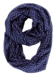 72 Units of Women's Chevron Infinity Scarf - Womens Fashion Scarves