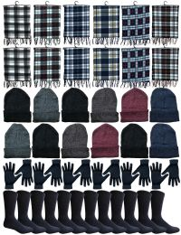 48 Units of Yacht & Smith 48 Pack Wholesale Bulk Winter Thermal Beanies Skull Caps, Thermal Gloves Unisex (Womens 4Pc Combo B) - Winter Care Sets
