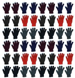 48 Units of Yacht & Smith Unisex Winter Texting Gloves, Warm Thermal Winter Gloves - Conductive Texting Gloves