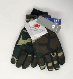 12 Units of Men's Igloos Thinsulate Camo Ski Gloves - Ski Gloves