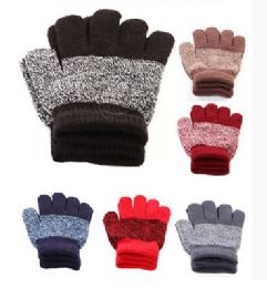 36 Units of Children Stripe Magic Glove - Winter Gloves