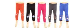 72 Units of Children's Capri Sweatpants Fur Lined Assorted Colors - Girls Apparel