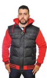 12 Units of Men's Fashion Nylon Fleece Hooded Jacket - Men's Winter Jackets