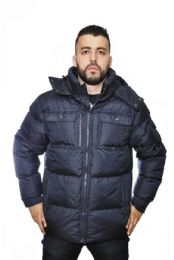 12 Units of Men's Heavy Synthetic Down Puffer Jacket - Men's Winter Jackets
