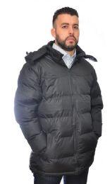 12 Units of Men's Parka Padded Puffer Coat With Fleece Lining - Men's Winter Jackets